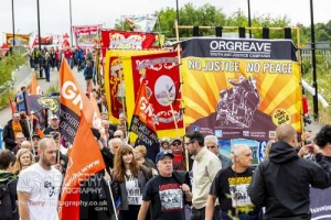 35th Orgreave anniversary march, Rotherham. 15.06.2019