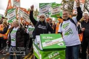 Asda workers march, Leeds. 16.10.2019