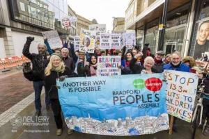Bradford Childrens Services cuts protest. 10.02.2018
