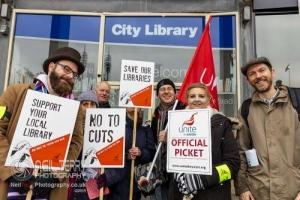 Bradford Council Libraries strike. 05.11.2019