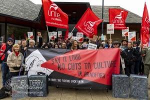 Bradford Council Libraries strike. 21.10.2019