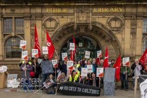 Bradford Council Libraries strike. 22.10.2019