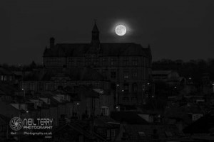 Bradford Sunset and Wolf Moon 10.01.2020