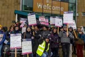 Bradford University UCU strike. 25.11.2019