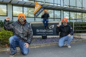 British Gas fire and rehire strike, Leeds. 14.04.2021
