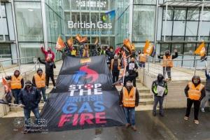 British Gas stirke (fire and rehire), Leeds. 26.03.2021