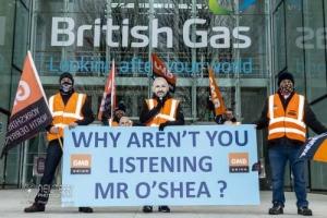 British Gas strike, Leeds. 11.01.2021