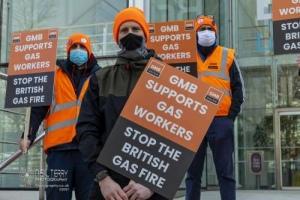 British Gas Strike, Leeds. 26.02.2021