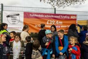 Calderdale Against School Cuts, Halifax. 24.10.2019
