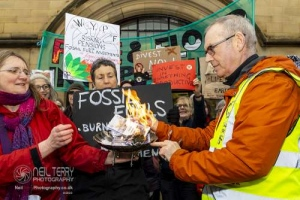 Fossil Free WYPF protest, Bradford. 30.01.2020