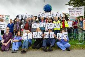 GALBA and Medact protest at Leeds Bradford Airport. 04.09.2021