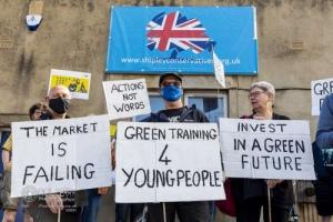 Green Jobs protest. Shipley. 24.04.2021