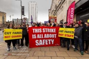 Leeds RMT Strike & Anti-Fascist protest 19.01.2019