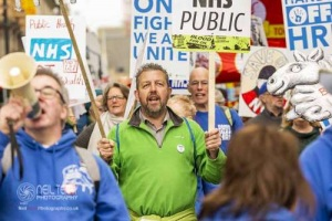 March for the NHS. Leeds 14.04.2018