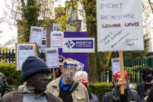NEU strike at Huddersfield North Trust School. 28.04.2021