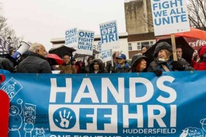 NHS Day of Action. Huddersfield. 03.02.2018
