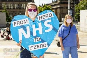 NHS Pay Justice, Leeds. 08.08.2020