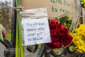 Sarah Everard memorial. Shipley. 14.03.2021