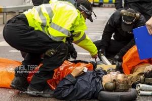 Stop DSEI arms trade fair, London. 04.09.2019