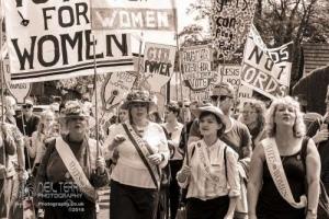 Suffragette march. Shipley. 28.05.2018