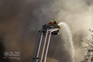 Tyre fire in Bradford. 16.11.2020