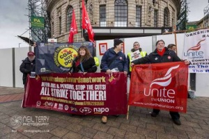 Unite day of action against Blacklisting. Leeds. 06.12.2017